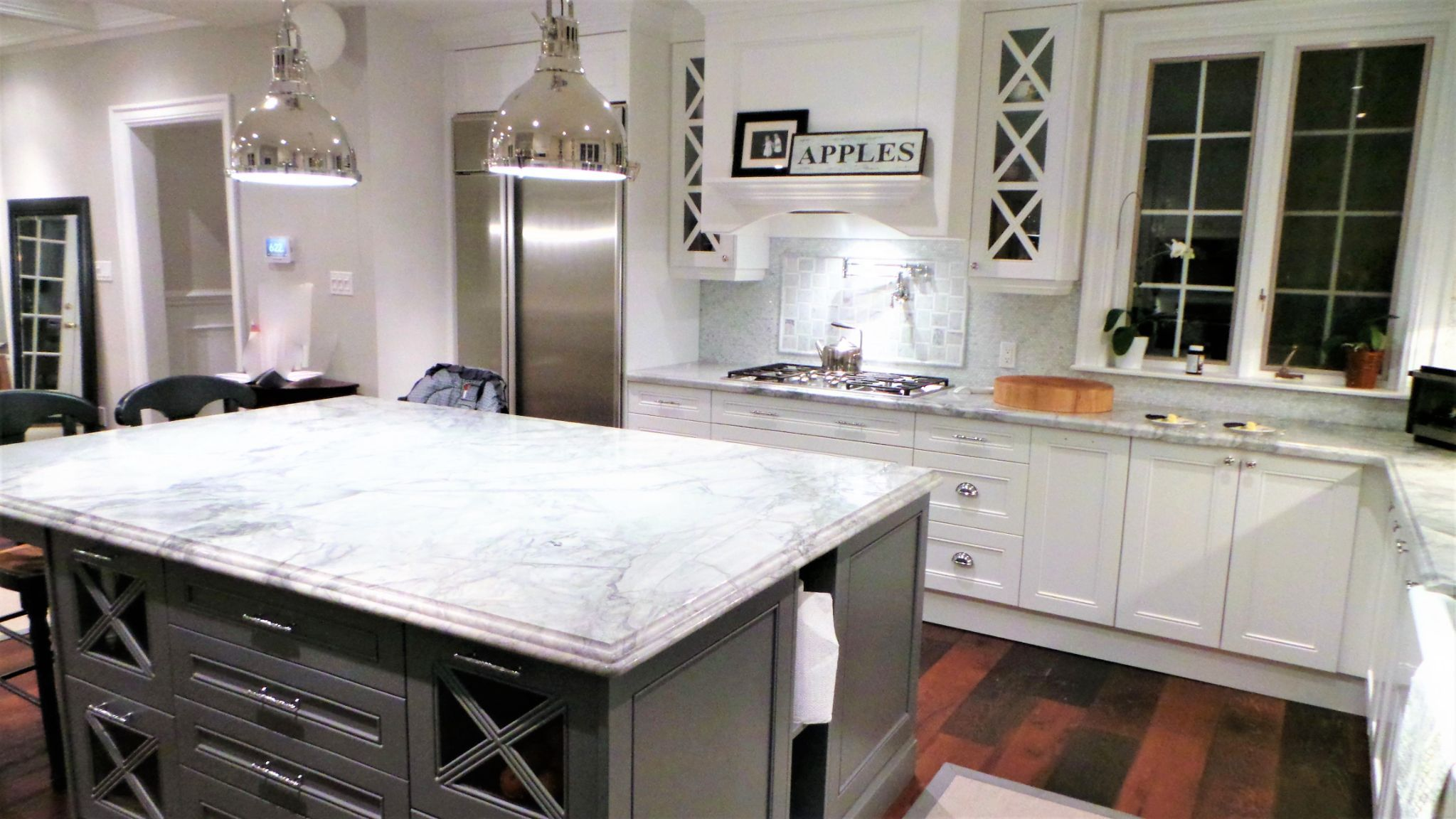 White kitchen with countertop