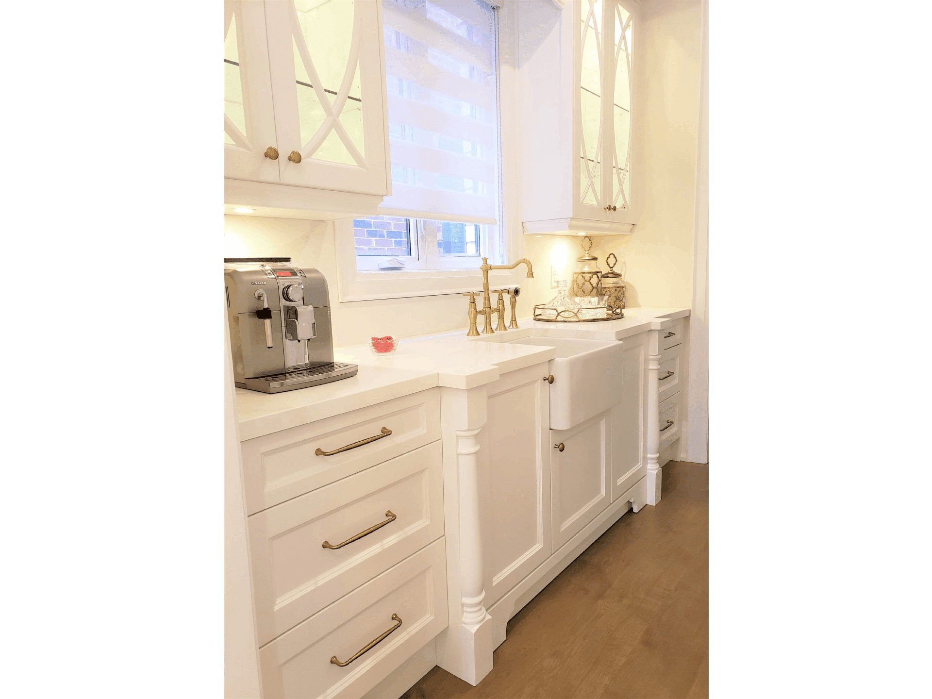 kitchen cabinets with vanity