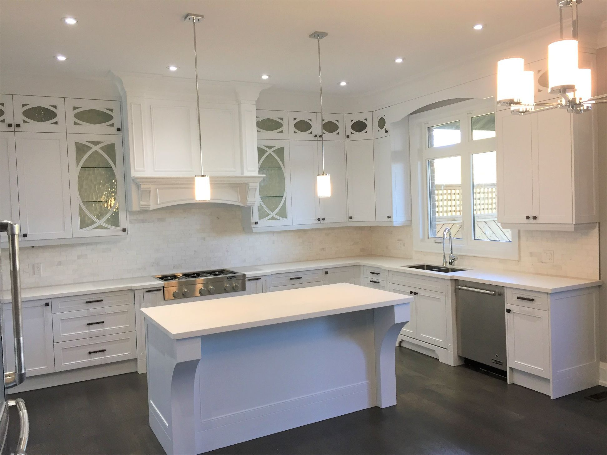 kitchen designed in white