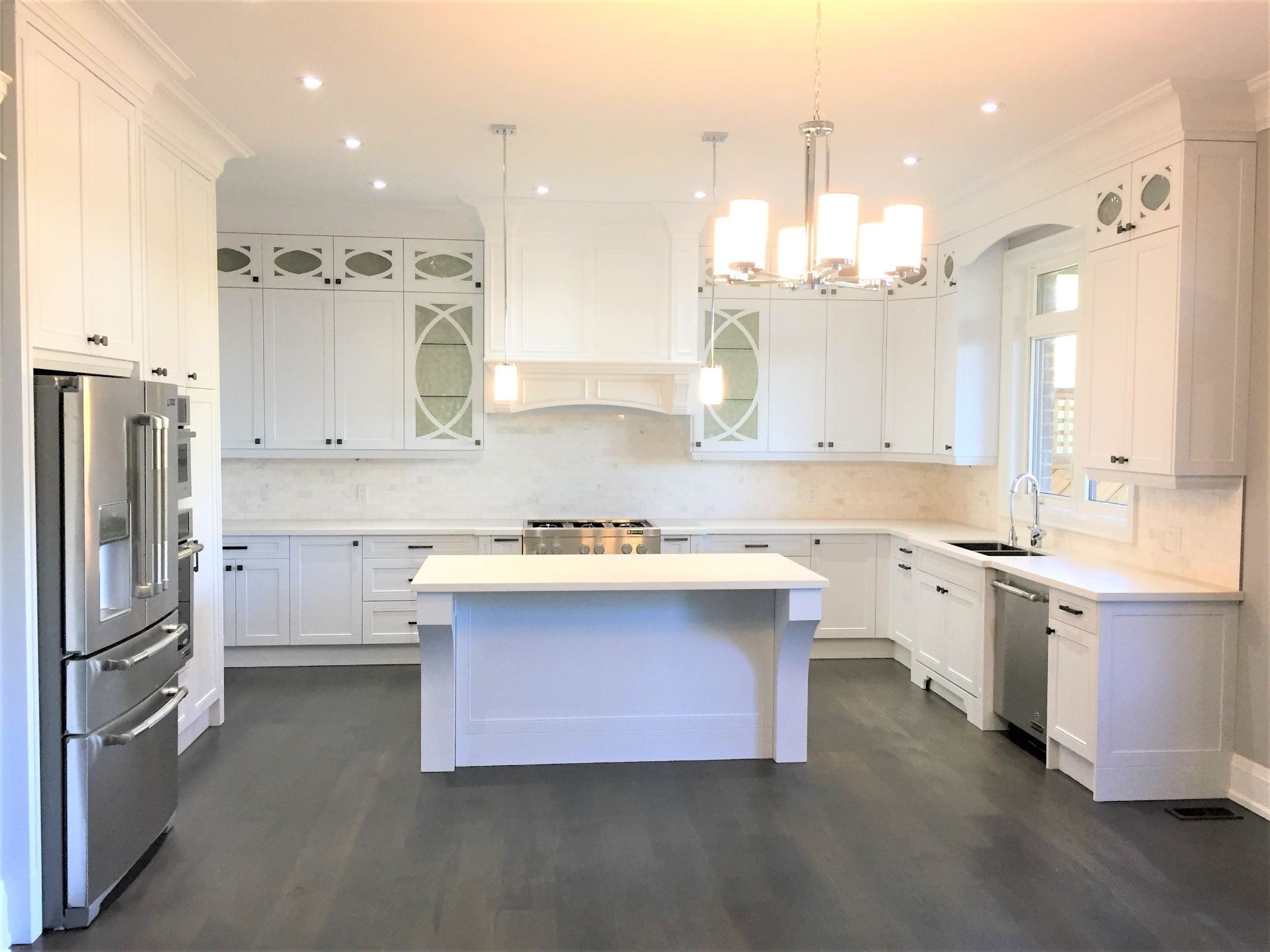 kitchen designed with countertop